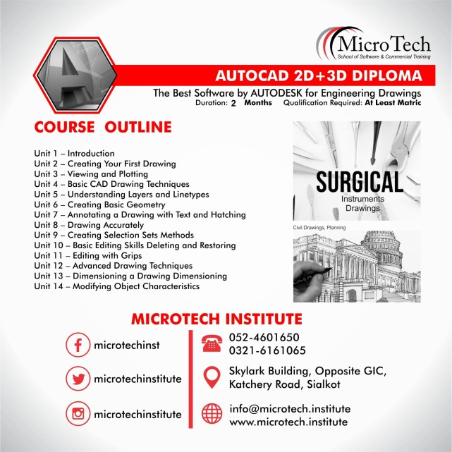 best diploma short course in sialkot microtech institute peachtree