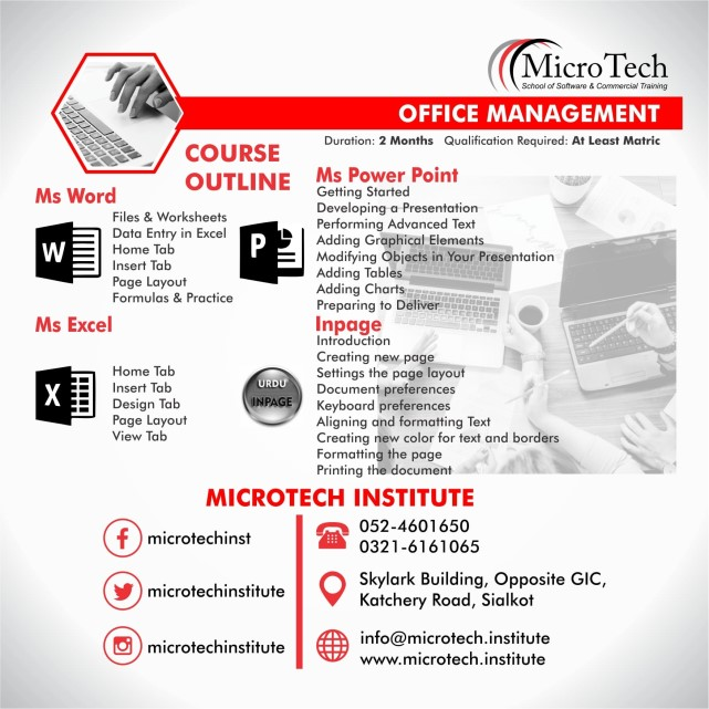 Best Diploma Short Course In Sialkot Microtech Institute