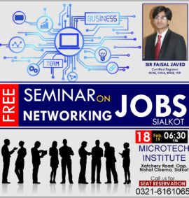 post pic size Free seminar on Networking Jobs by microtech institute sialkot best college institute for short computer diploma courses in sialkot